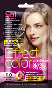 """""""fk"""" Cтойкая крем-краска для волос серии «Effect Сolor» 50мл, тон натуральный русый"""
