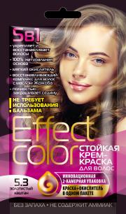 """""""fk"""" Cтойкая крем-краска для волос серии «Effect Сolor» 50мл, тон золотистый каштан"""