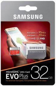 Карта памяти SAMSUNG EVO plus 32 Gb MicroSDHC Class 10 до 95Mb/s