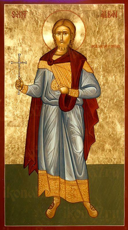 Албан Британский (рукописная икона)