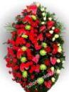 Элитный траурный венок из живых цветов №4, РАЗМЕР 100см,120см,140см,170см