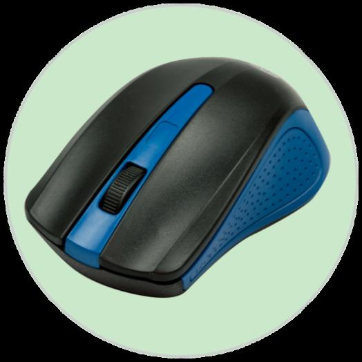 Мышь беспроводная RITMIX RMW-555 BLACK/BLUE