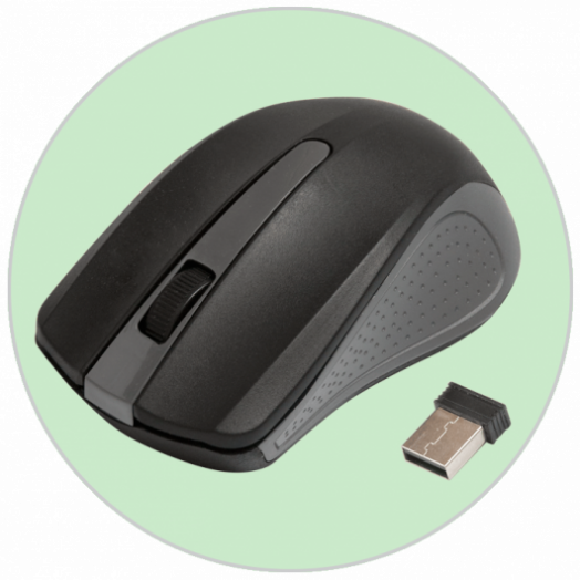 Мышь беспроводная RITMIX RMW-555 BLACK/GREY