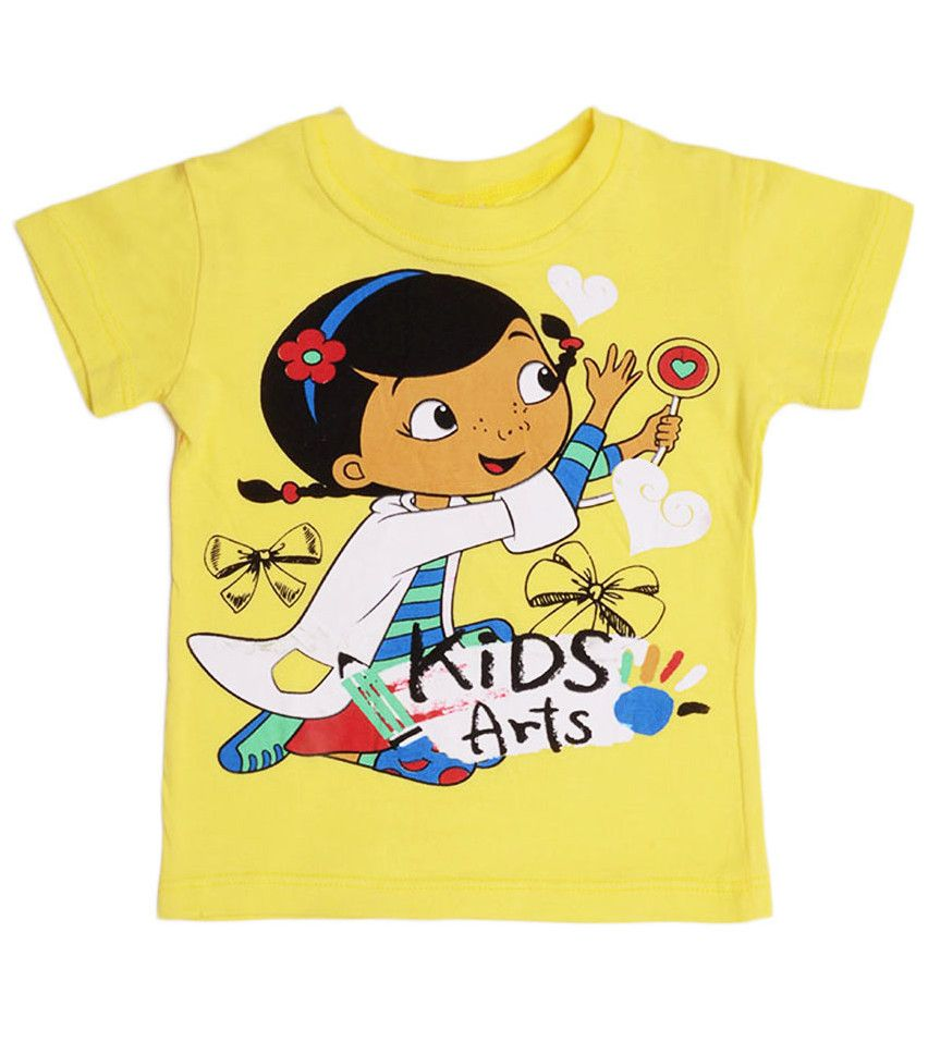 Футболка желтая для девочки