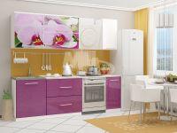 Кухня МДФ с фотопечатью Орхидея-2.