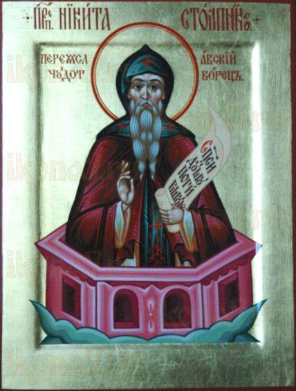 Никита Столпник (икона на дереве)