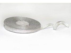 Лента металлизированная. Цвет серебро 3 мм (Рулон 100 ярдов = 91 метр)