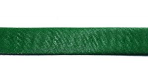 `Косая бейка, атласная, ширина 15 мм, цвет: зеленый