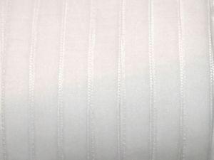 `Лента бархатная, цвет белый, ширина 10 мм