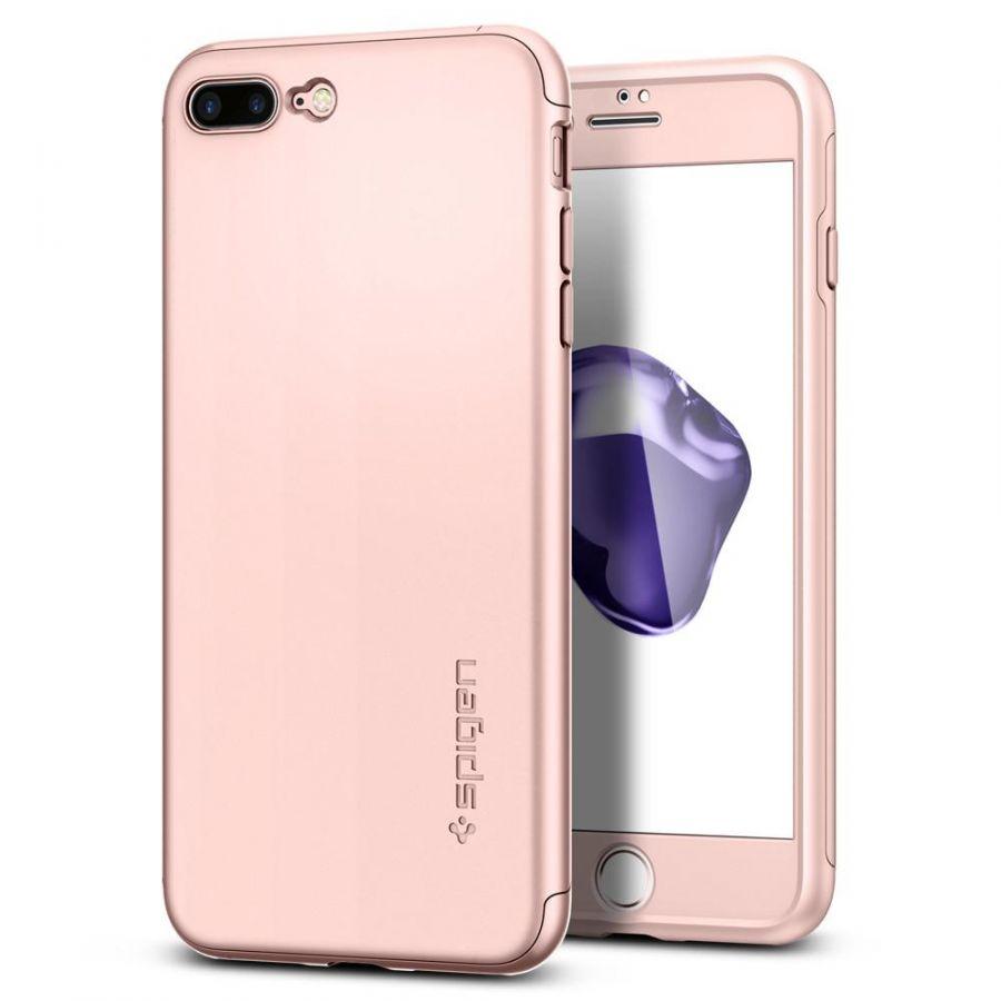 Чехол Spigen Thin Fit 360 для iPhone 7 Plus розовое золото