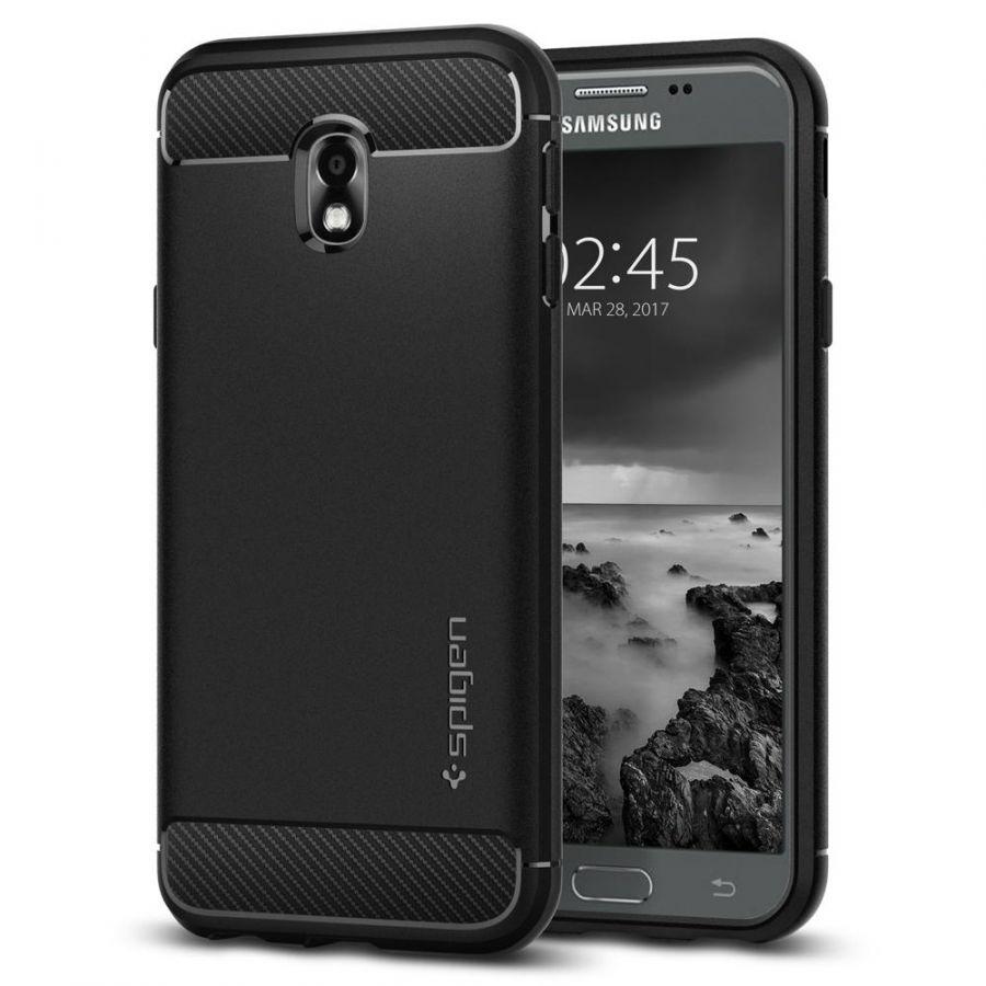 Чехол Spigen Rugget Armor для Samsung Galaxy J3 (2017) черный