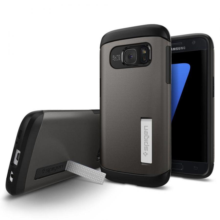 Чехол Spigen Slim Armor для Samsung S7 темный металлик