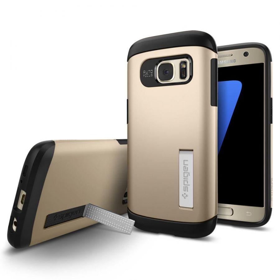 Чехол Spigen Slim Armor для Samsung S7 золотой