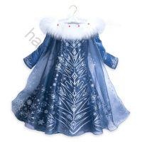 Платье Эльзы с меховой накидкой