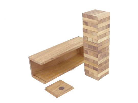 Дженга в деревянной коробке средняя, Jenga M 23,5 см