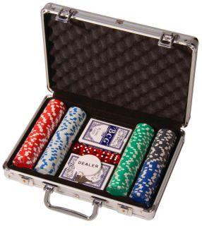 Покерный набор в чемодане 200 фишек