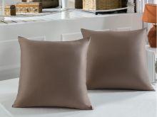 Наволочки сатиновые SERVAN 70*70-2(коричневые) Арт.220/12-1