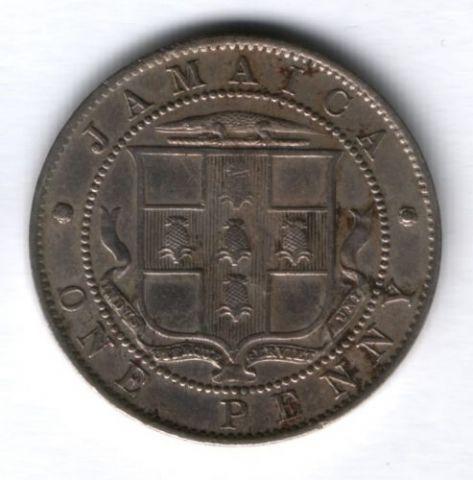 1 пенни 1919 г. Ямайка, AUNC