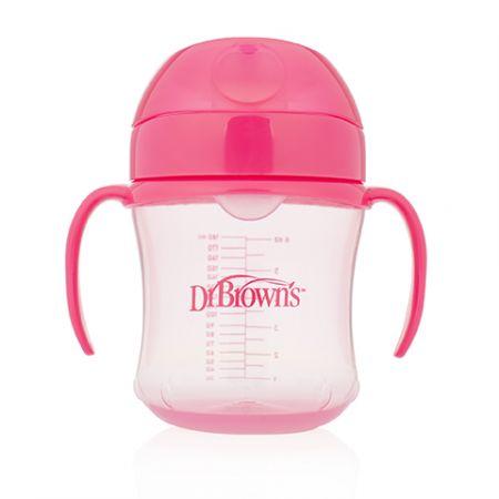 Dr.Brown's Чашка-поильник 180 мл с мягким носиком, розовая (Арт. ТС61003)