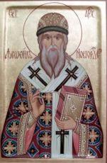 Феофил Печерский (Новгородский) (рукописная икона)