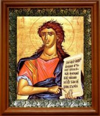 Захария Серповидец (19х22), светлый киот