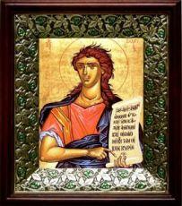 Захария Серповидец (19х22), темный киот