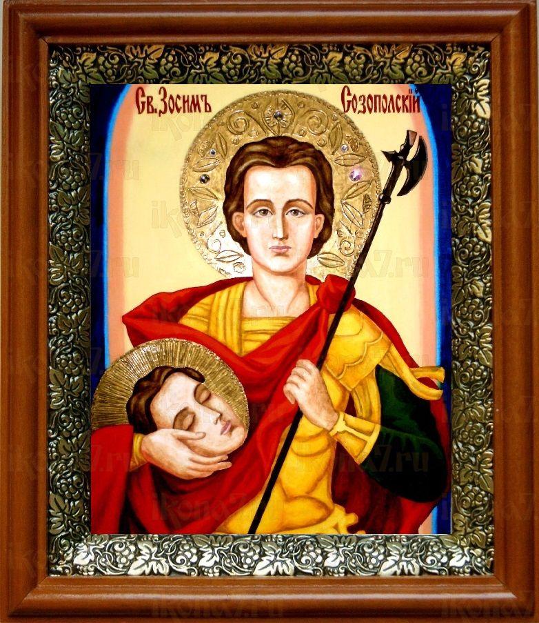 Зосима Аполлониадский (19х22), светлый киот