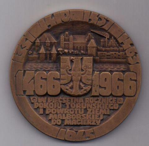 медаль 1466 - 1966 г. AUNC. Польша