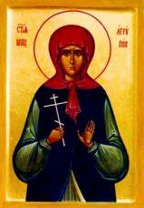 Агриппина Лесина (рукописная икона)
