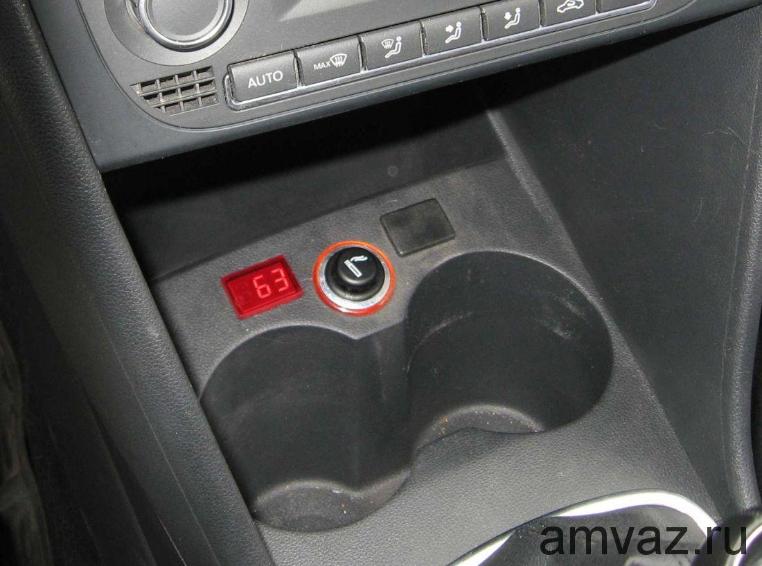 Индикатор t* двигателя на VW Polo