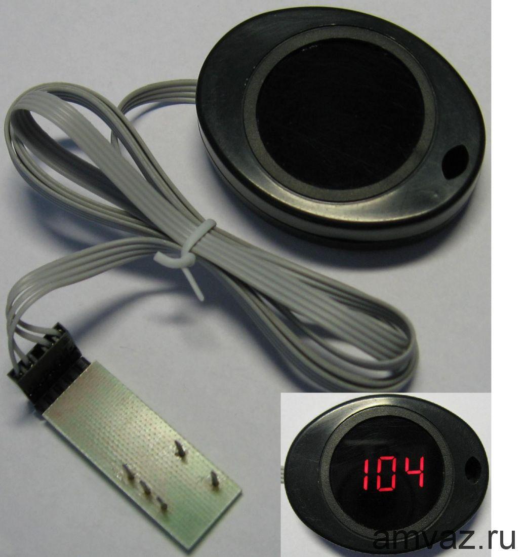 Индикатор t* двигателя+диагностика универсальный на липучке для CAN (на отечеств. и некоторые иномарки)