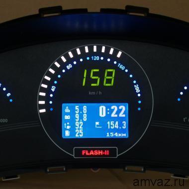 """Панель приборов электронная """"Flash-2"""" Калина, Приора,2110 Европанель с автосветом"""