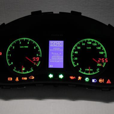 """Панель приборов стрелочная+электронная """"Flash-Х4"""" Калина, Приора,2110 европанель RGB подсветка шкал"""
