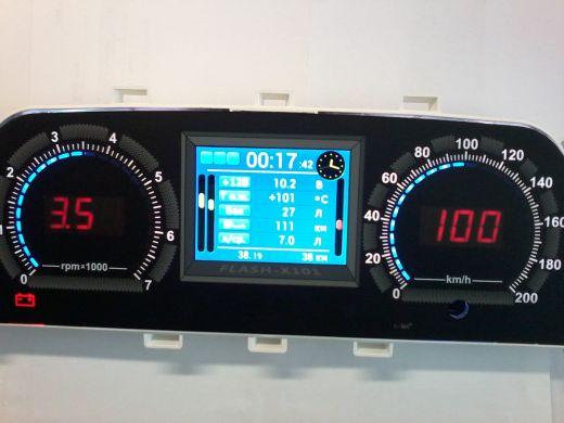 """Панель приборов электронная """"Flash-101"""" 3,5""""TFT экран, 2110, 2115, Шеви RGB подсветка шкал"""