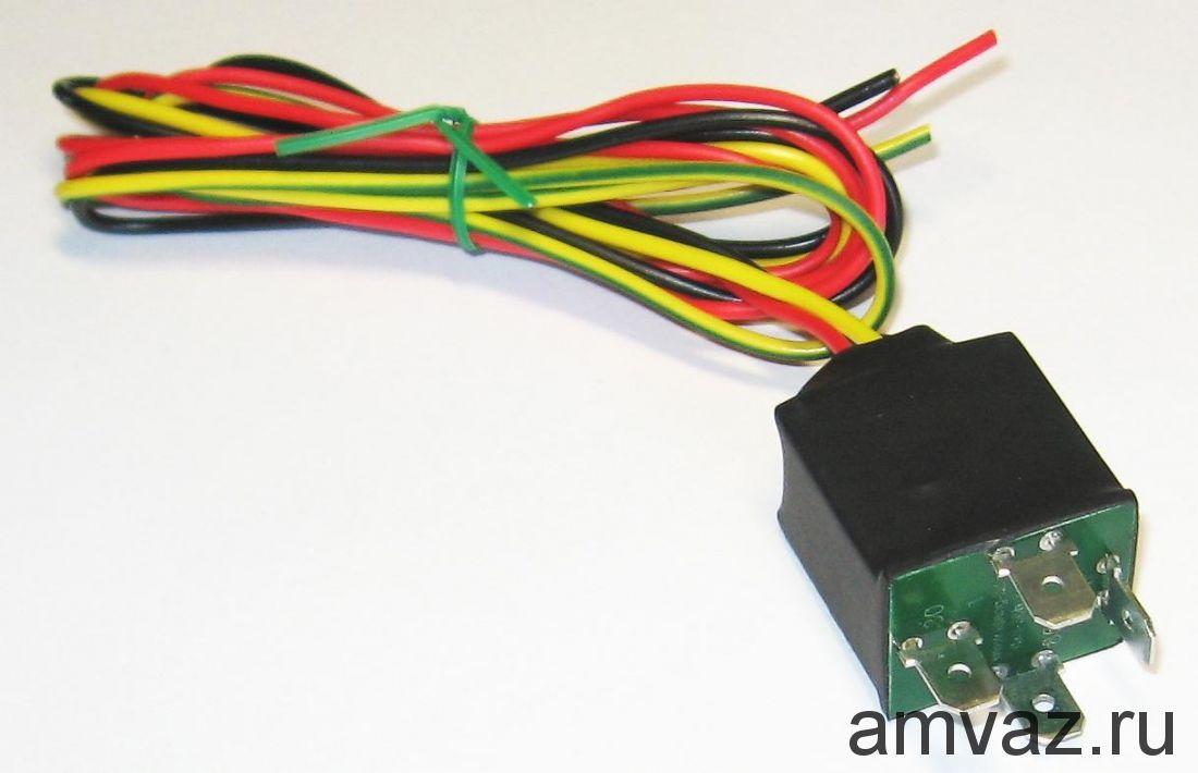 Реле ДХО-30Б для включения дальнего света на 30%, как ходовые огни ВАЗ 2107, 2109, 2115, 2110 и др.
