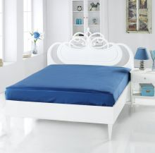 Простыня сатиновая SERVAN 160x240(синий) Арт.220/9-7