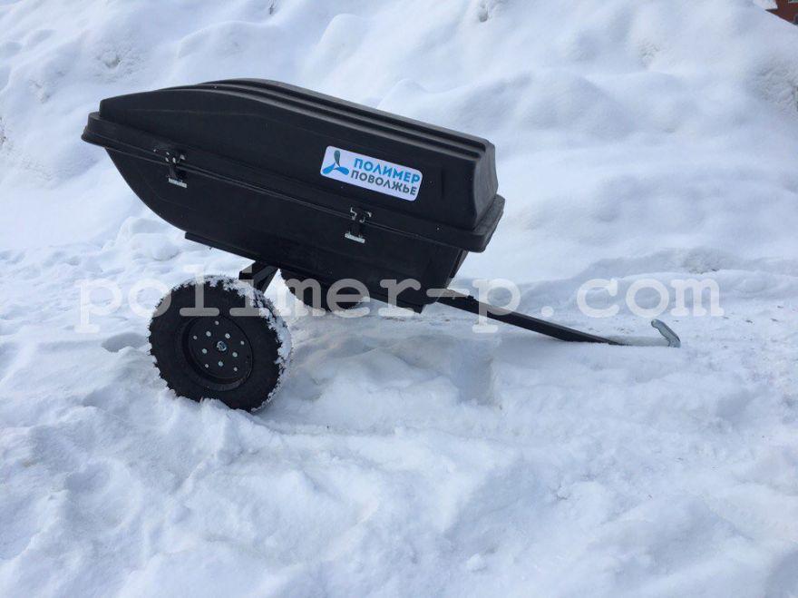 Тележка-прицеп для снегохода и квадроцикла усиленная с крышкой