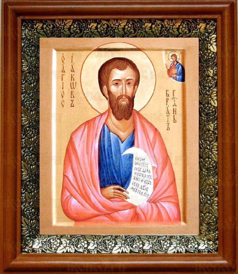 Иаков, брат Господень (19х22), светлый киот
