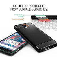 Чехол Spigen Rugget Armor для OnePlus 3/3T черный