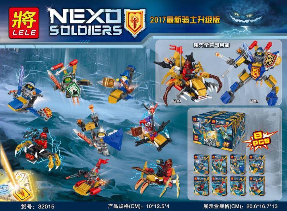 "LELE NEXO SOLDIERS""Набор из 8 конструкторов"" NO.32015"