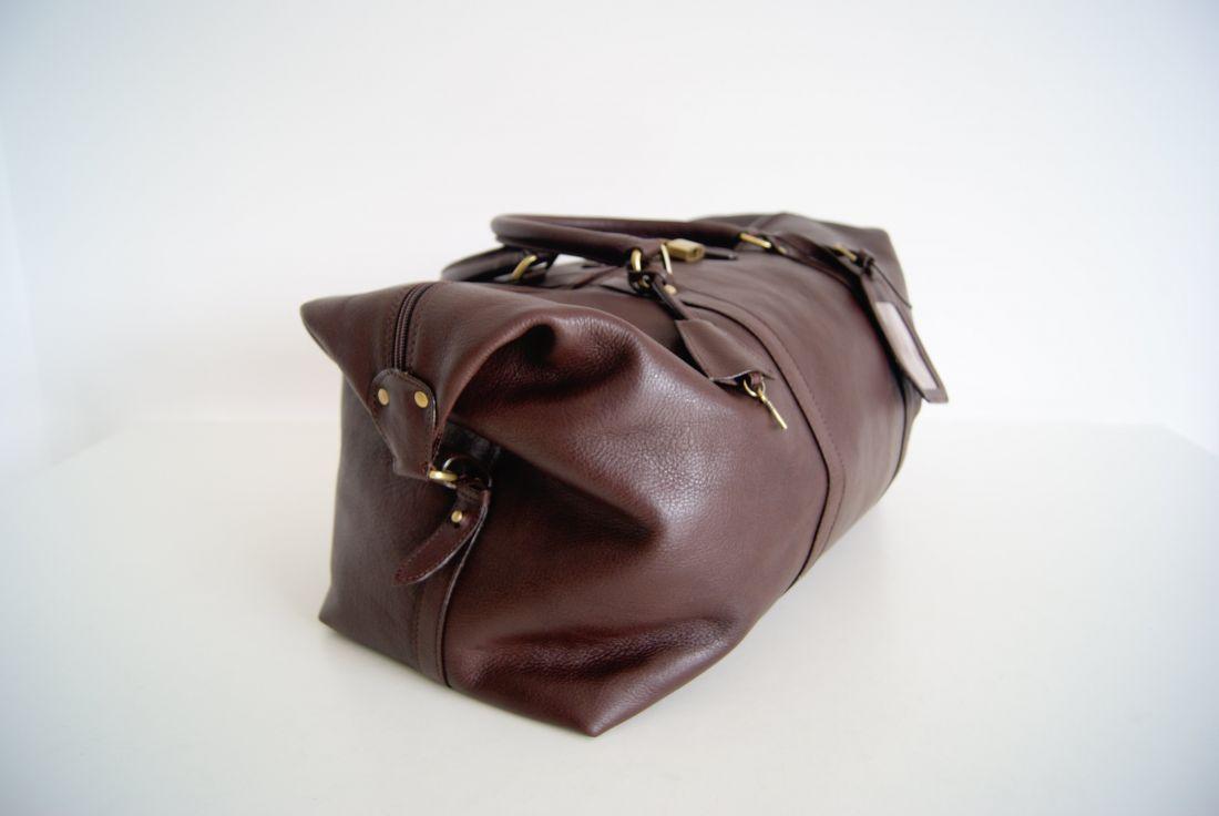 BUFALO BBJ01 BIG BROWN большая кожаная дорожная сумка