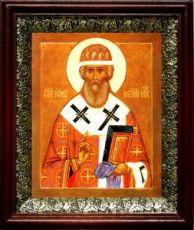 Иона Московский (19х22), темный киот
