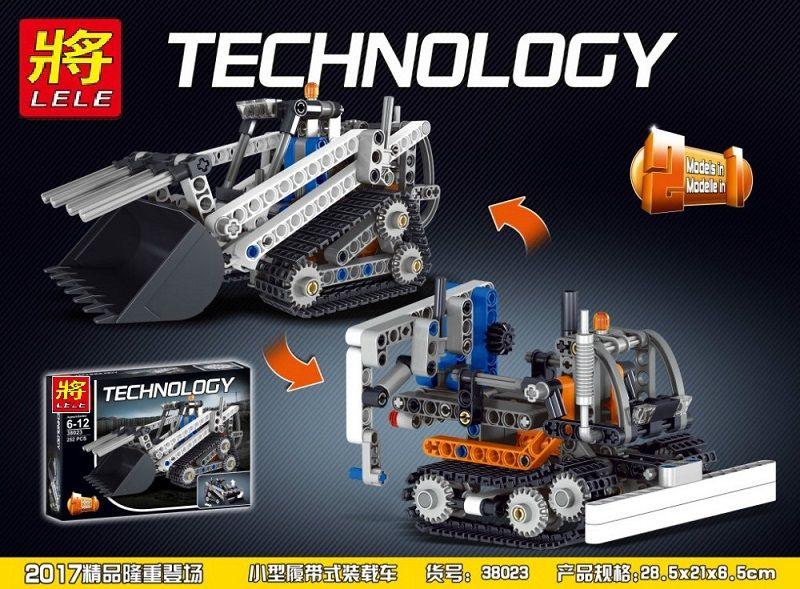 """LELE TECHNICS """"Строительные машины, 2 модели в 1"""" 252 детали NO.38023"""