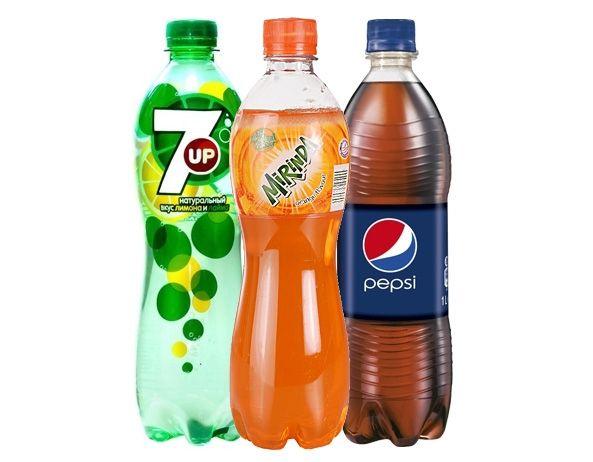 Пепси, миринда, севен ап 0,6 л