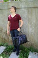 BUFALO BBJ01 BIG BLACK большая кожаная дорожная сумка