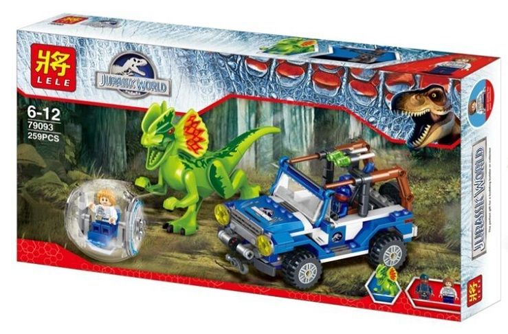 "LELE JURASSIC WORLD ""Засада на Дилофозавра"" 259 деталей NO.79093"