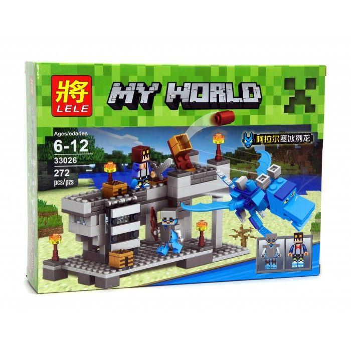 "LELE MY WORLD ""Голубой Дракон"" 272 детали NO.33026"
