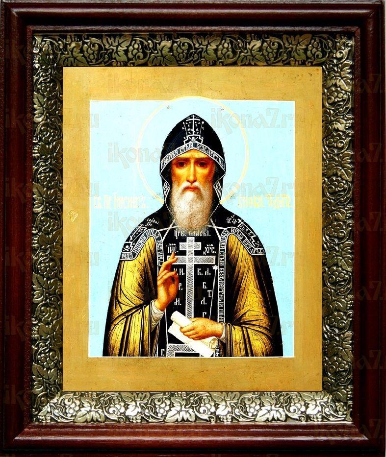 Иосиф Волоцкий (19х22), темный киот