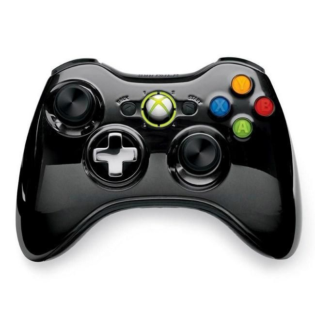 Microsoft Xbox 360 Wireless Controller Джойстик CHROME BLACK