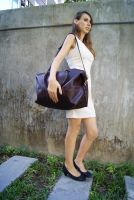 BBJ01 SMALL BROWN дорожная кожаная сумка